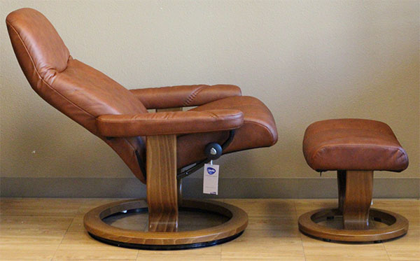 Stressless Ambassador Large Consul Batick Caramel Leather