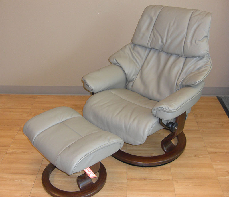 Stressless Reno Royalin Mole Leather Recliner Chair