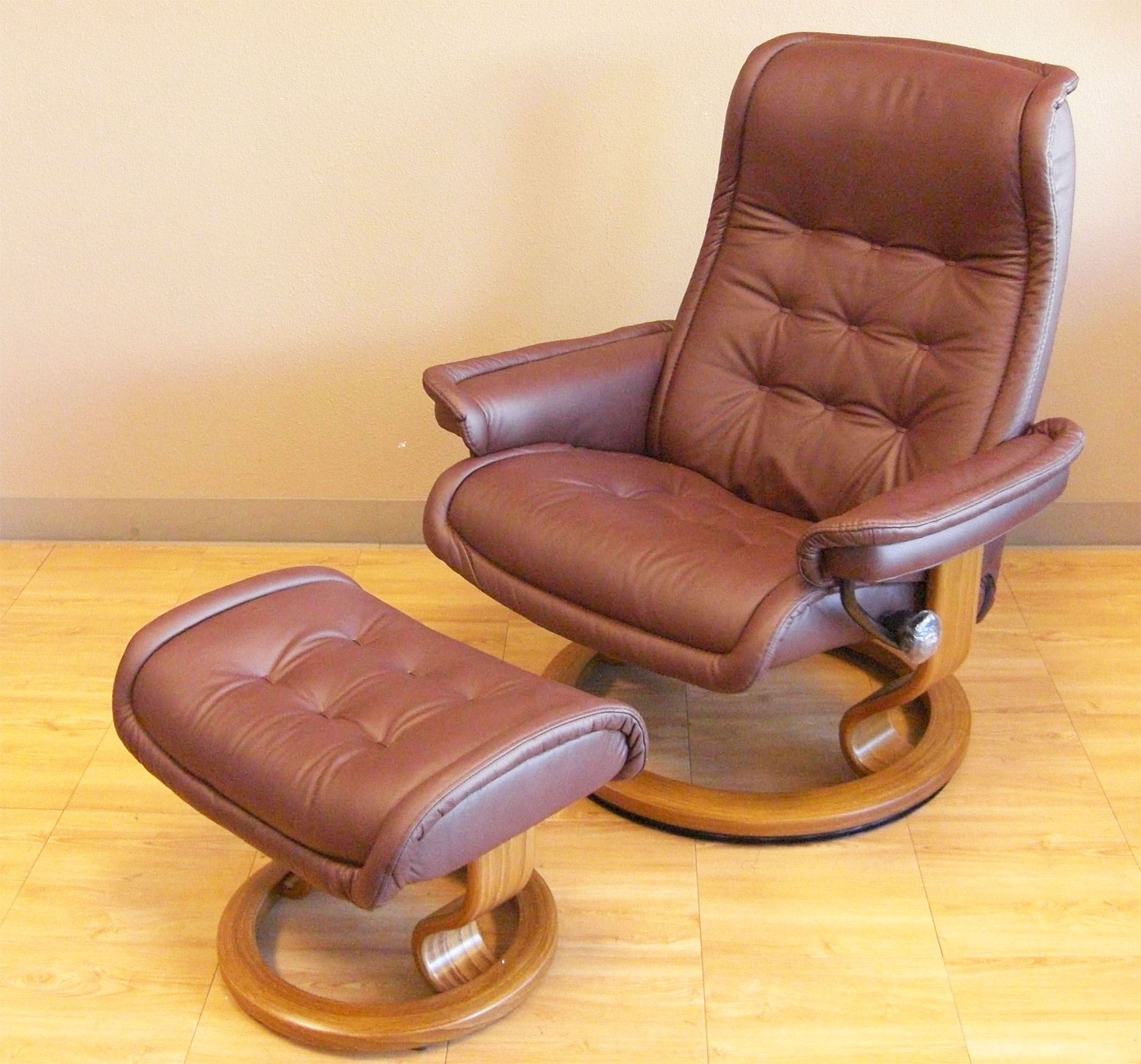 Stressless Royal Paloma Coffee Leather Recliner Chair