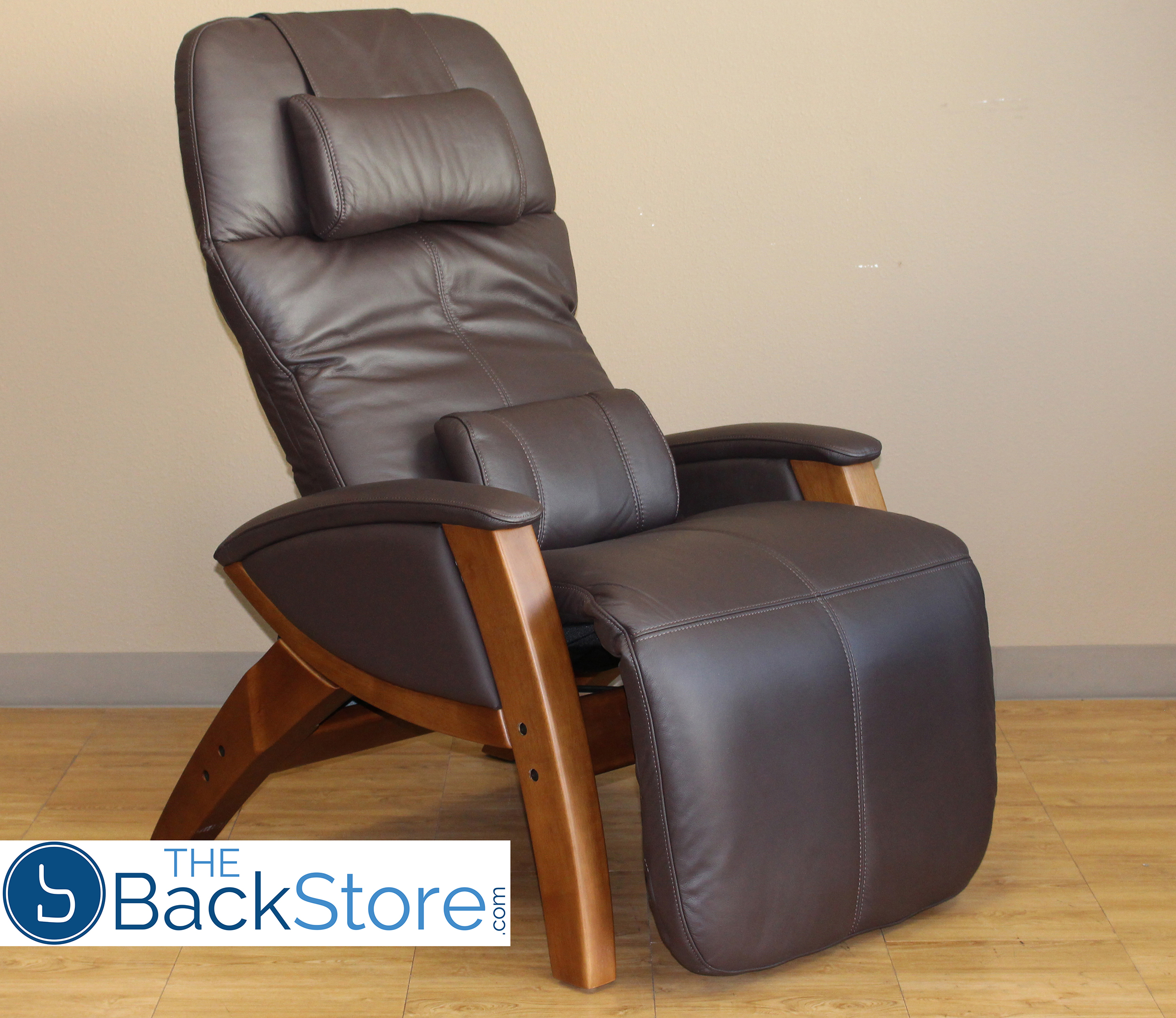 CHOCOLATE LEATHER   HONEY WOOD BASE Svago SV400 Lusso Chair Zero Gravity  Ivory Leather Honey Wood Recliner