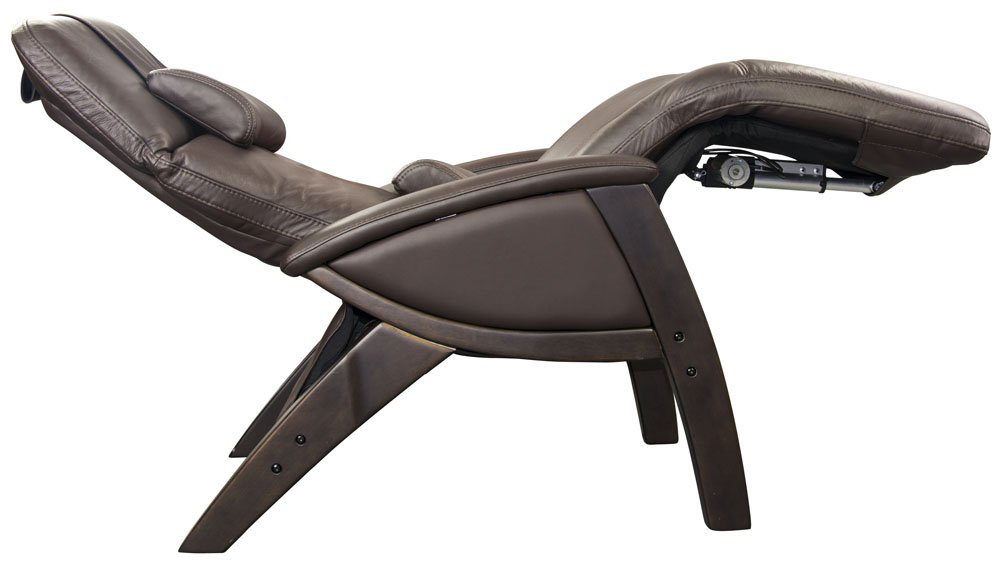 zero gravity recliner with sunshade and drink tray chocolate leather dark walnut reclined reviews outdoor chair uk