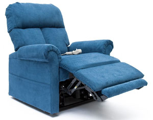 Blue Mega Motion LC-200 Electric Power Recline Easy Comfort Lift Chair Recliner