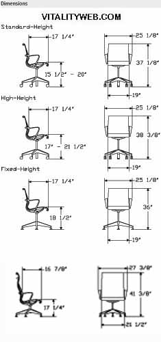 Herman Miller Celle Home Office Chair Dimensions