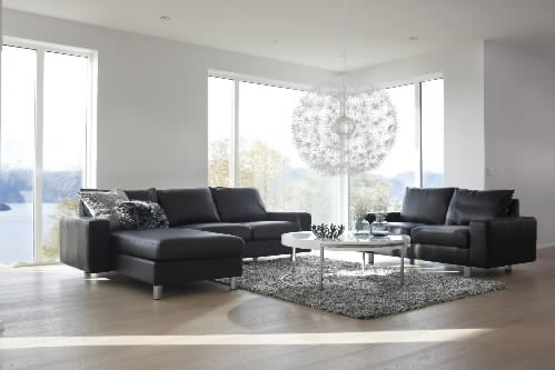 stressless e200 leather ergonomic sofa couch with matching cushions