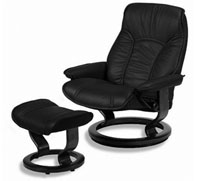 Sensational Stressless Governor Large Leather Recliner Classic Wood Base Chair And Ottoman By Ekornes Gmtry Best Dining Table And Chair Ideas Images Gmtryco