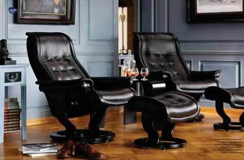 stressless royal leather recliner chair and ottoman stressless royal recliner black leather by ekornes